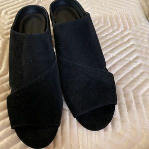 Black mule sandals